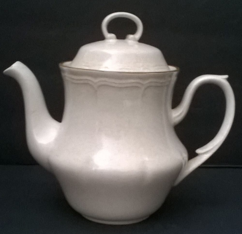 BAROQUE HEARTHSIDE STONEWARE TEAPOT HAND PAINTED JAPAN POTTERY ...