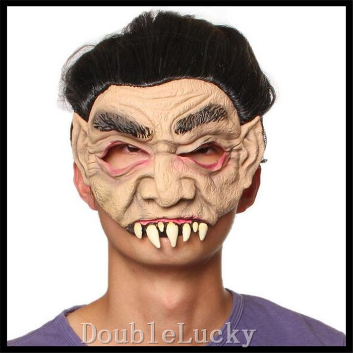 Free shipping Halloween Scary Mask Circus Clown Head Mask with ...