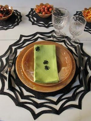 Decoracion mesa Halloween Pinterest Decoracin mesa Mesas y