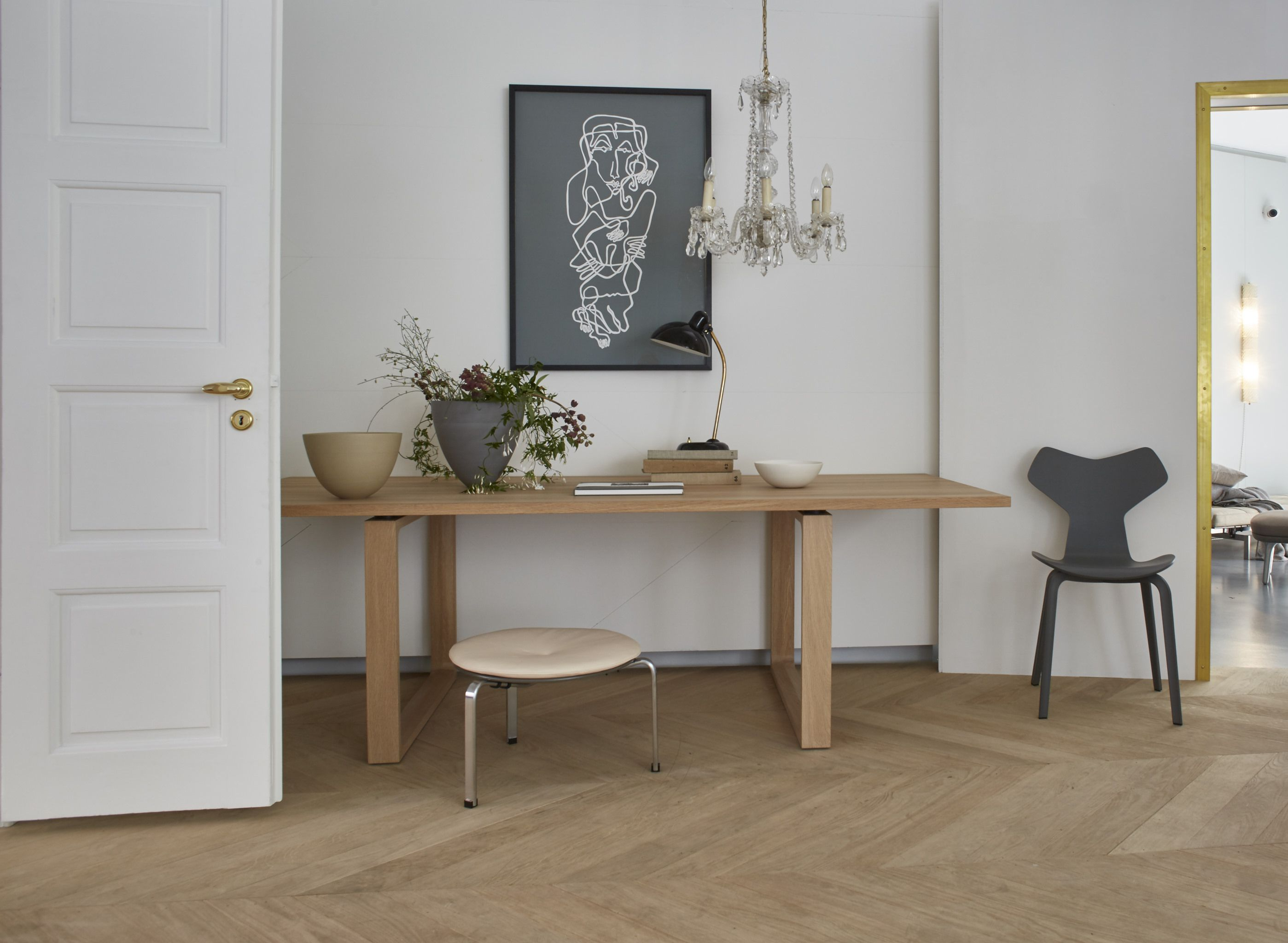 INTERIOR DESIGN The Danish furniture company Fritz Hansen is welcoming  guest to their home these days on the furniture fair Sal.