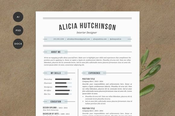 Resume Template 4 Pack | CV Template by Refinery Resume Co. on Creative Market