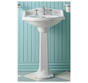 Vitreous China Small 23 Traditional Pedestal Sink Pedestal Sink
