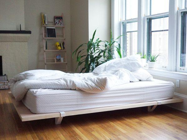 a minimal platform bed for city living - Sturdy Bed Frame