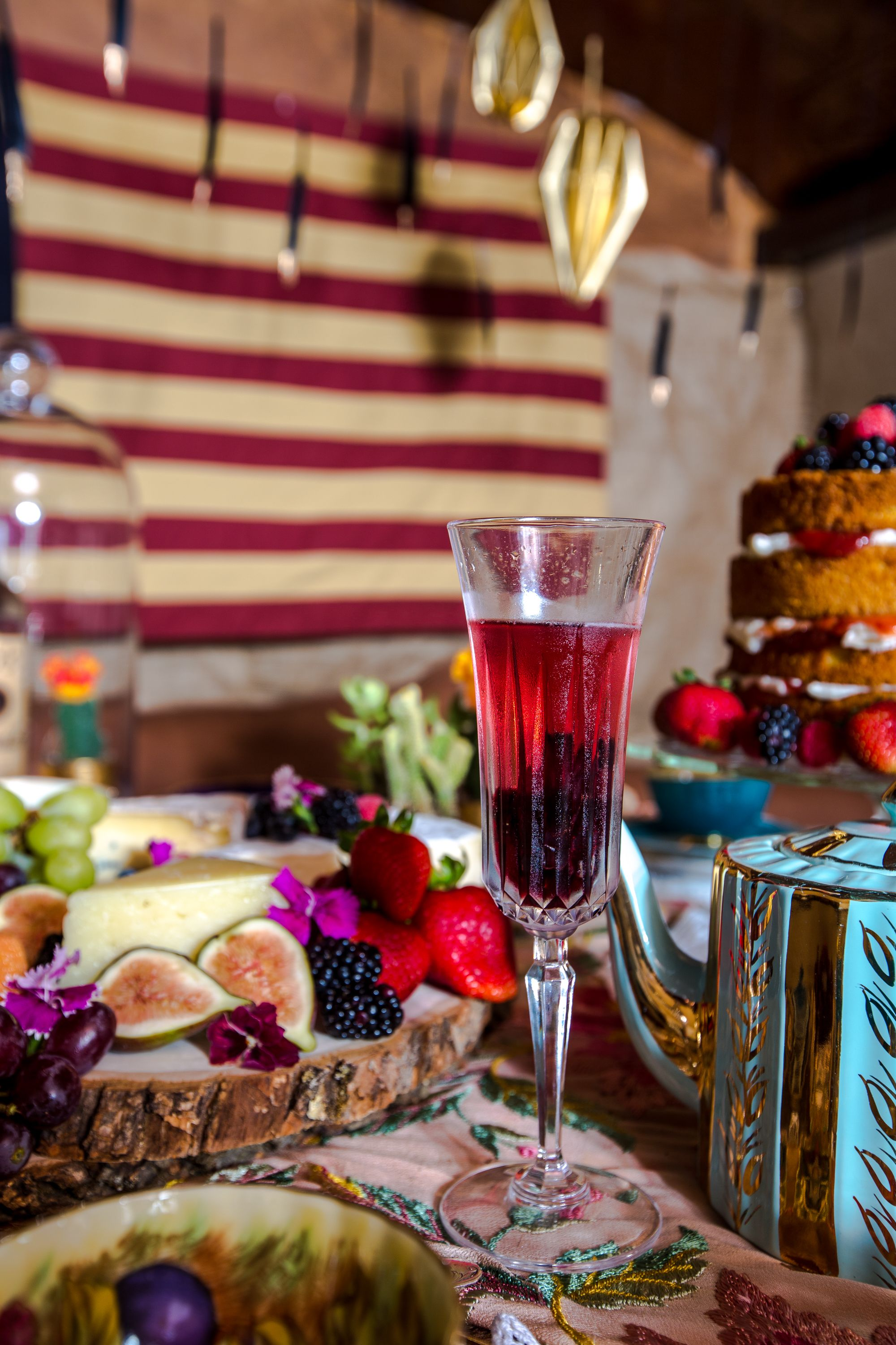 The Hip Hip Hibiscus Sip Fill Champagne Flute With Champagne A