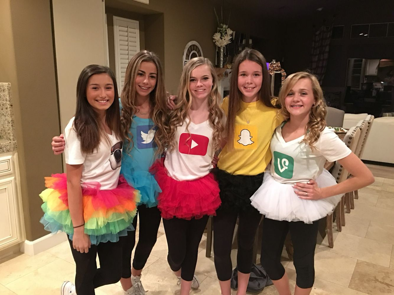 teen group costume, social media | halloween costumes in 2018