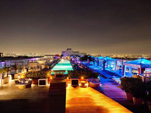 Rooftop Lounge At The Perry South Beach Hotel