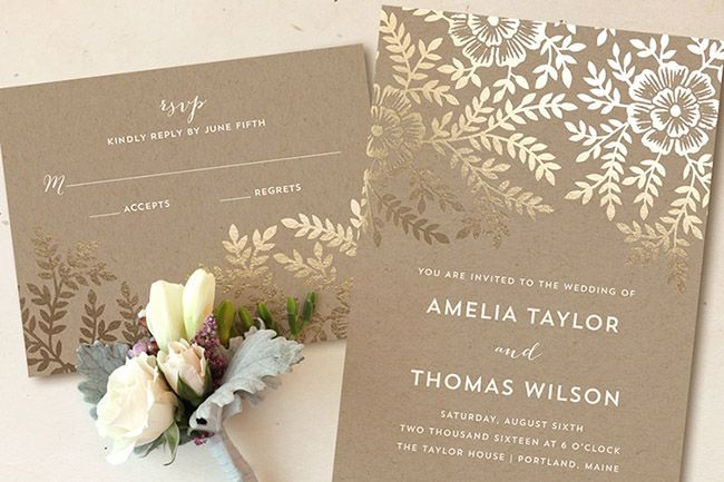 Wedding Invitation Giveaway: Foil-pressed Invitations From Minted + A Giveaway