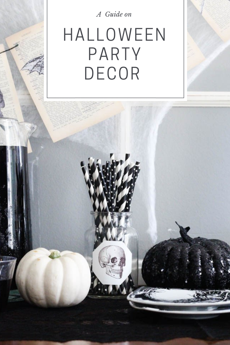 Black And White Halloween Home And Party Decor Within The Grove Classy Halloween Party Halloween Party Decor Halloween Party