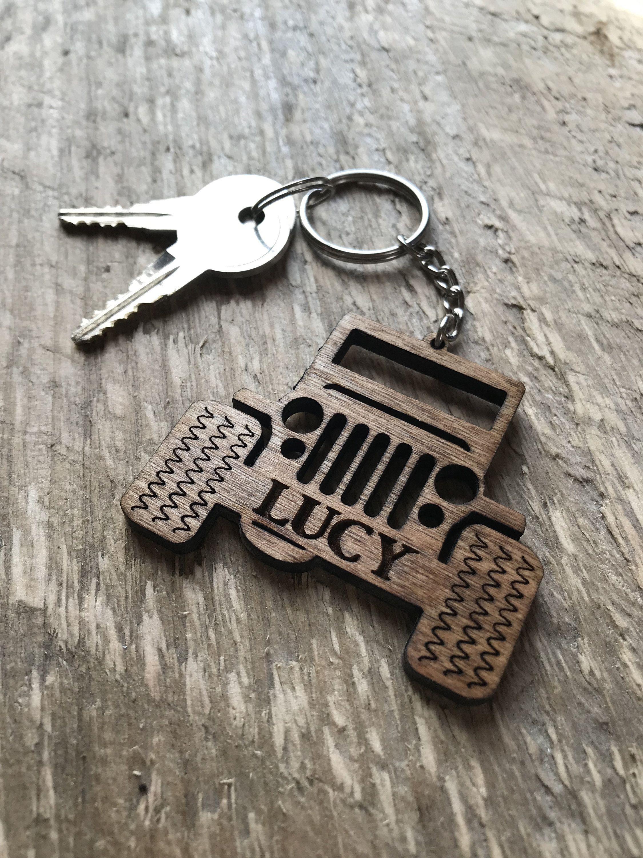 Creative Car Keyring Key Decoration for JEE//P Logo Keychain Key Holder