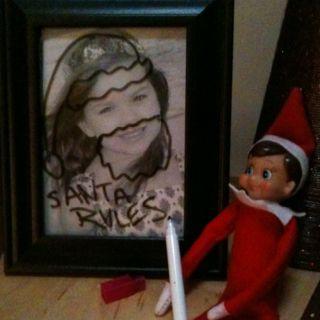Elf on the shelf today