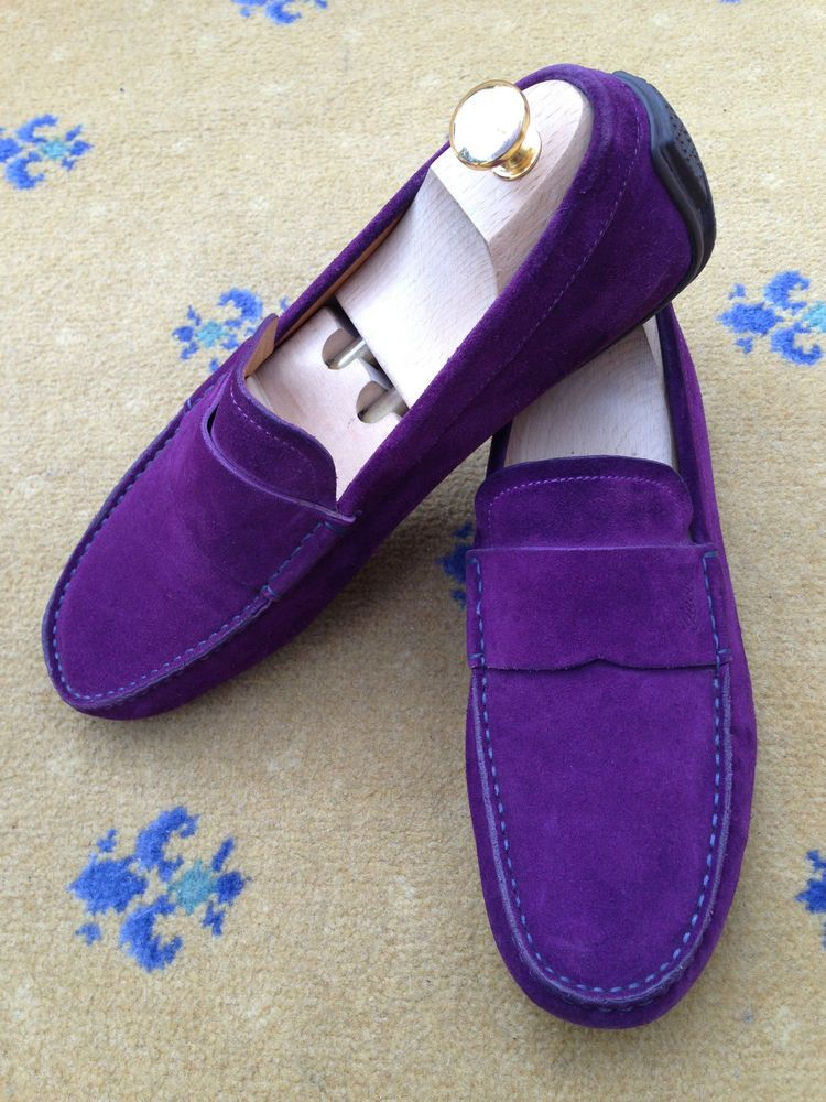 4cf09cfd6539 Gucci Men s Shoes Purple Suede Loafers Drivers Deck Boating UK 7 US 8 EU 41