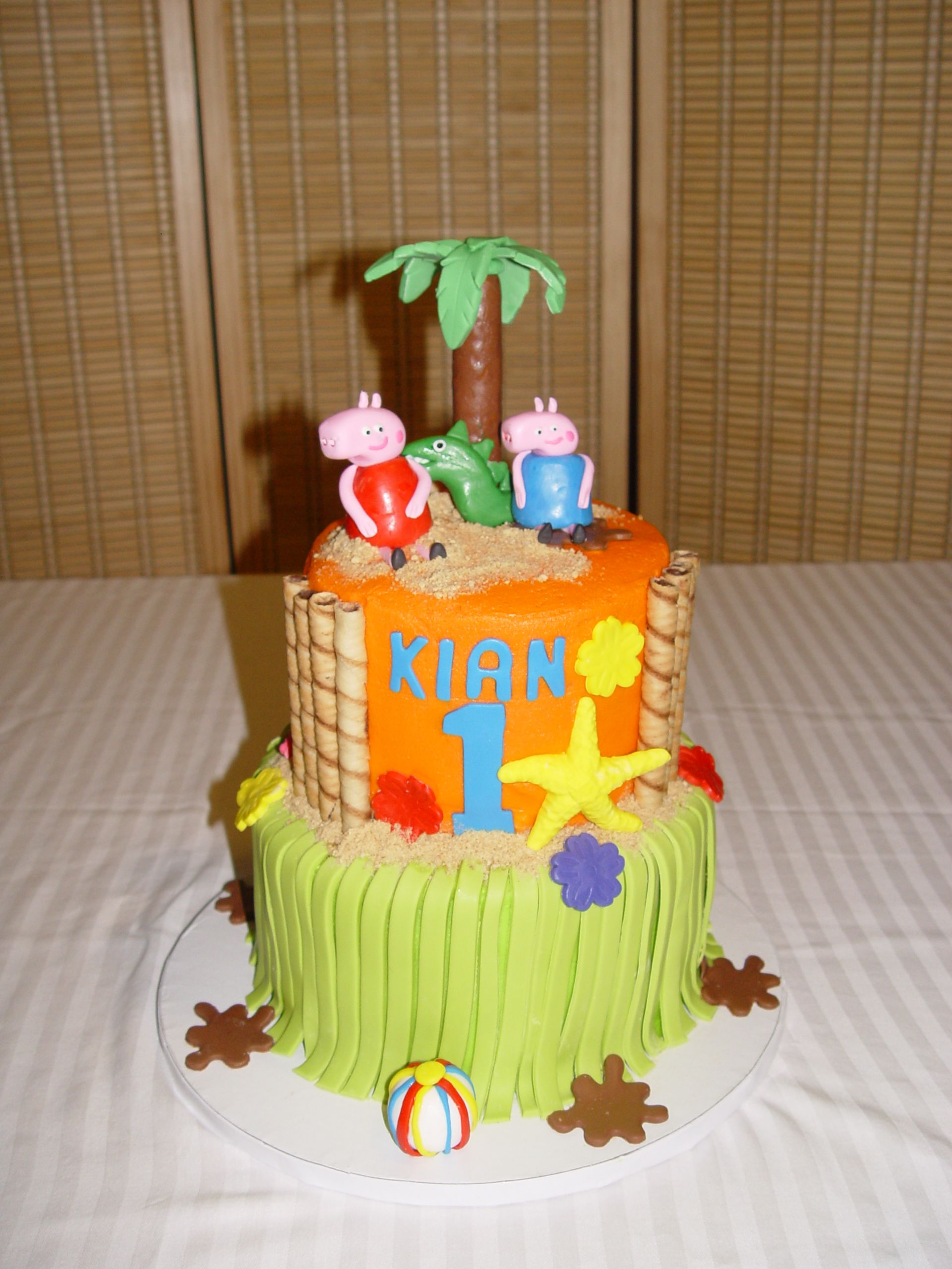 Peppa Pig Luau Cake By Specialty Cakes And Desserts Fayetteville