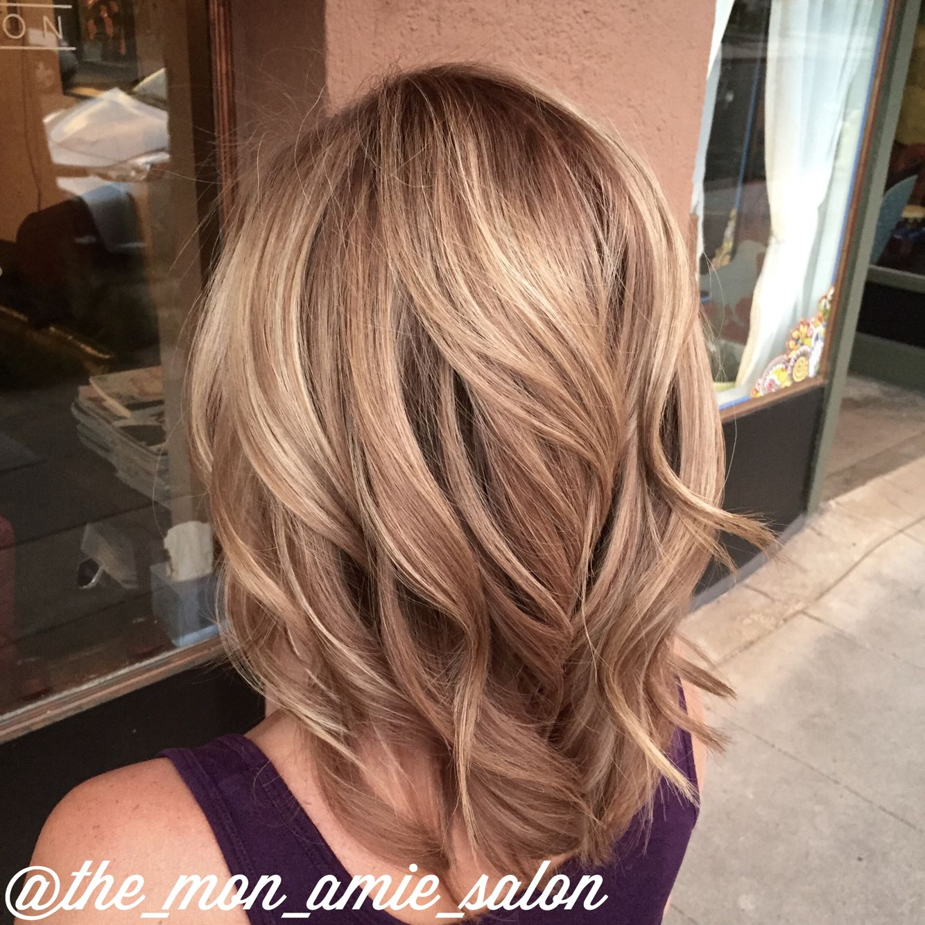 Caramel Salon Subtle Stretched Root Dark Blonde Hair Color Hair By Aly