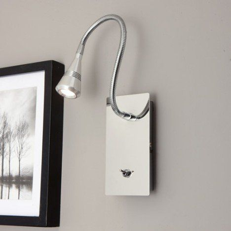 Applique Kaya 1 X 3 W Metal Aluminium Inspire Parement Mural Luminaire Salle De Bain Applique Murale