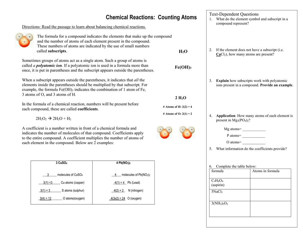 31 Awesome Counting Atoms Worksheet Design Ideas