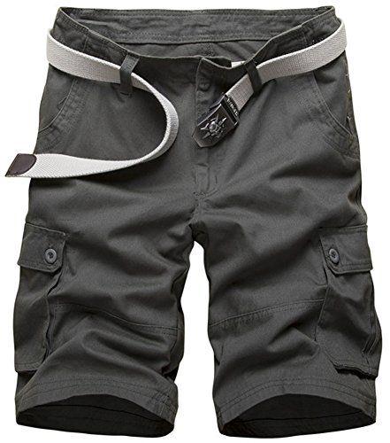 "New Mens 100/% Casual Twill Regular Fit Combats Cargo Shorts Knee Length 32/""-44/"""