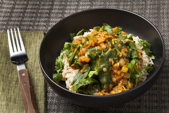 how to cook red lentils and brown rice