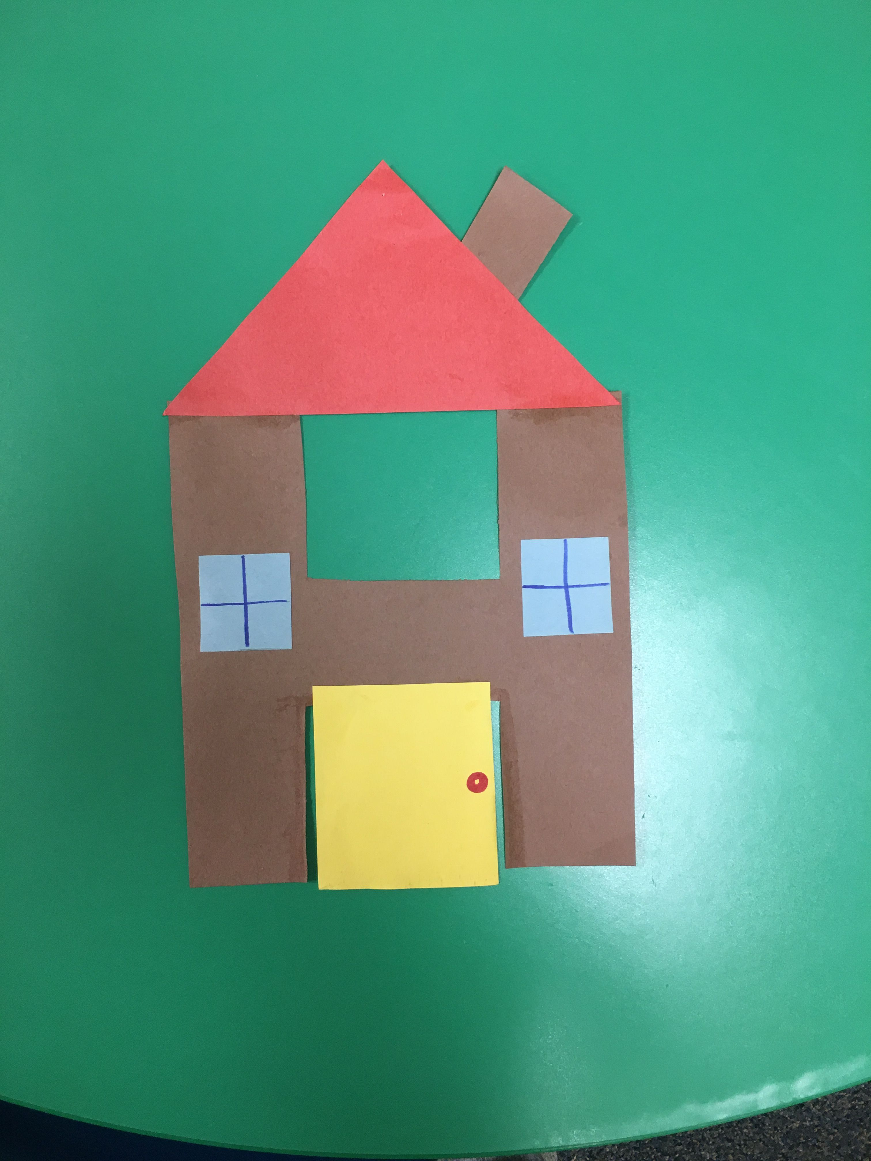 Letter H House Craft For Preschool
