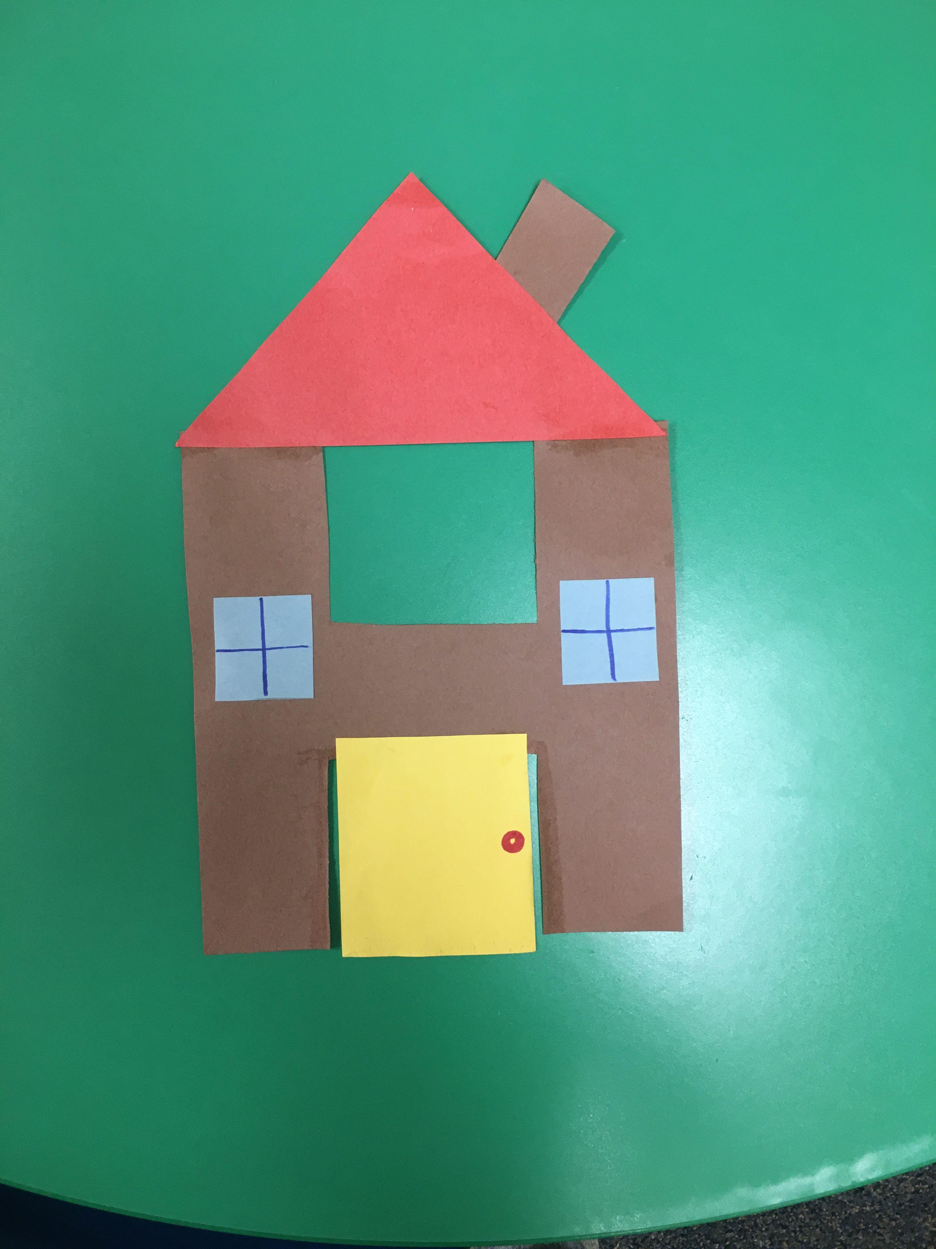 Letter H House Craft For Preschool