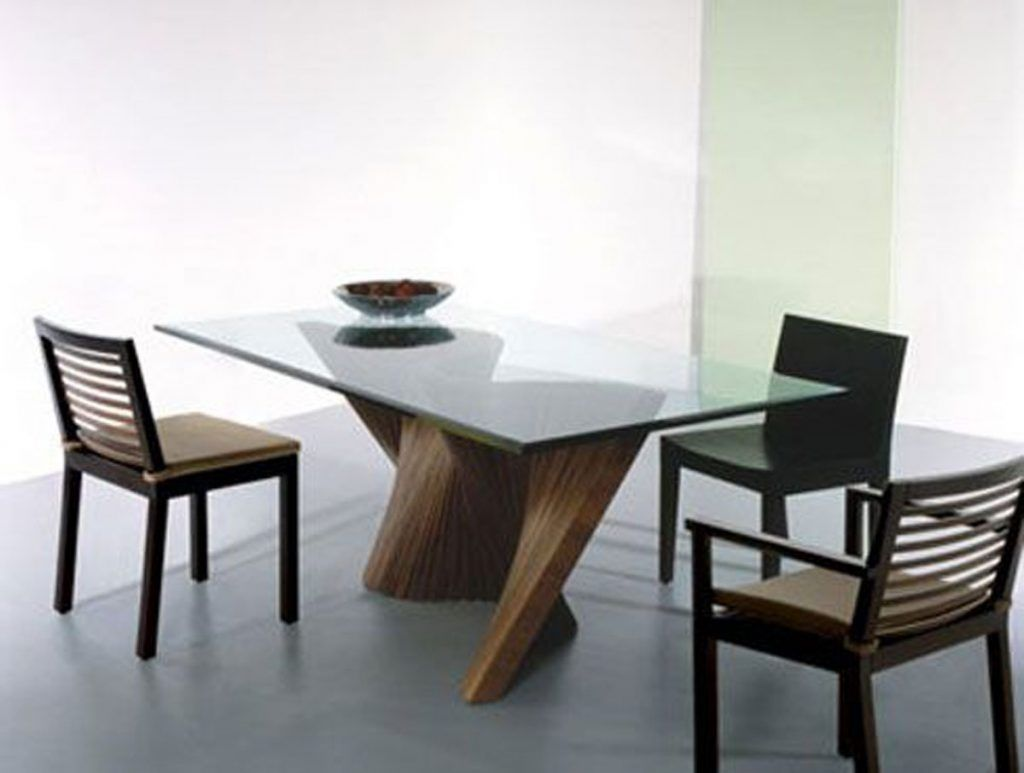 Modern Glass Dining Table Choosing The Type Of Modern Glass Dining