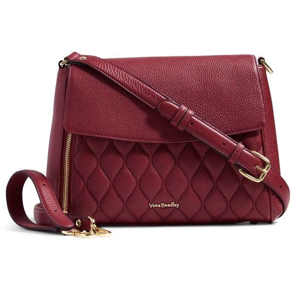 Vera Bradley Quilted Cara Convertible Bag In Claret 258