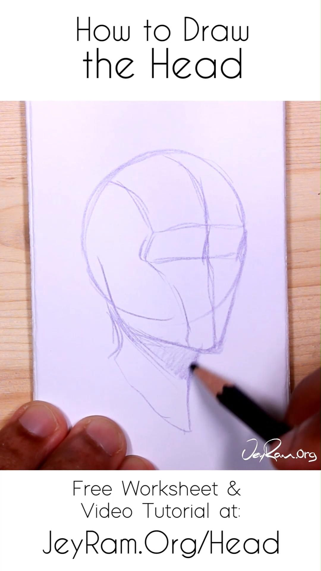 Photo of How to Draw the Head: Free Worksheet & Video Tutorial