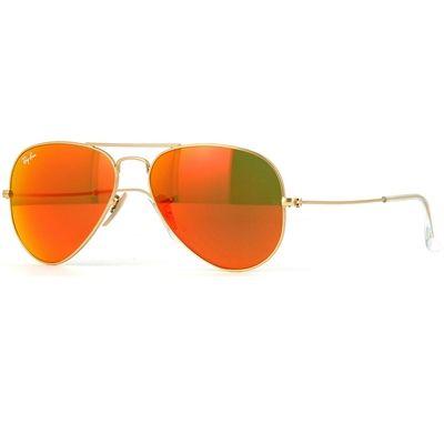Óculos de Sol RayBan Aviador Large Dourado Lente Espelhada Rosa Laranja e  Amarelo RB3025L11269 f5cddca909