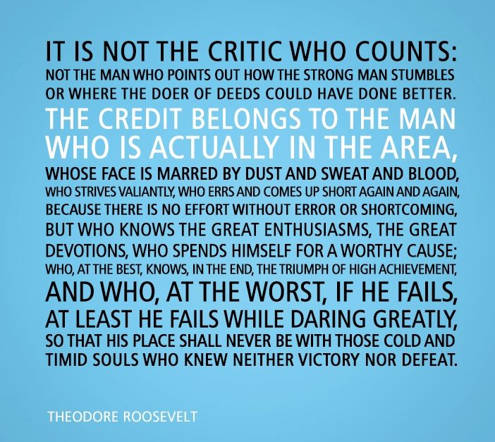 Man In The Arena Quote | Brene Brown Man In The Arena Quote Google Search Inspiration