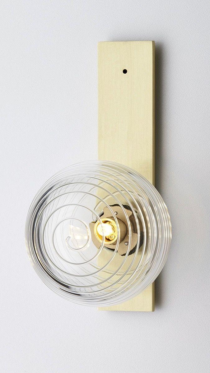 Clear stringi ball brass flat back plate ffe luminare wall