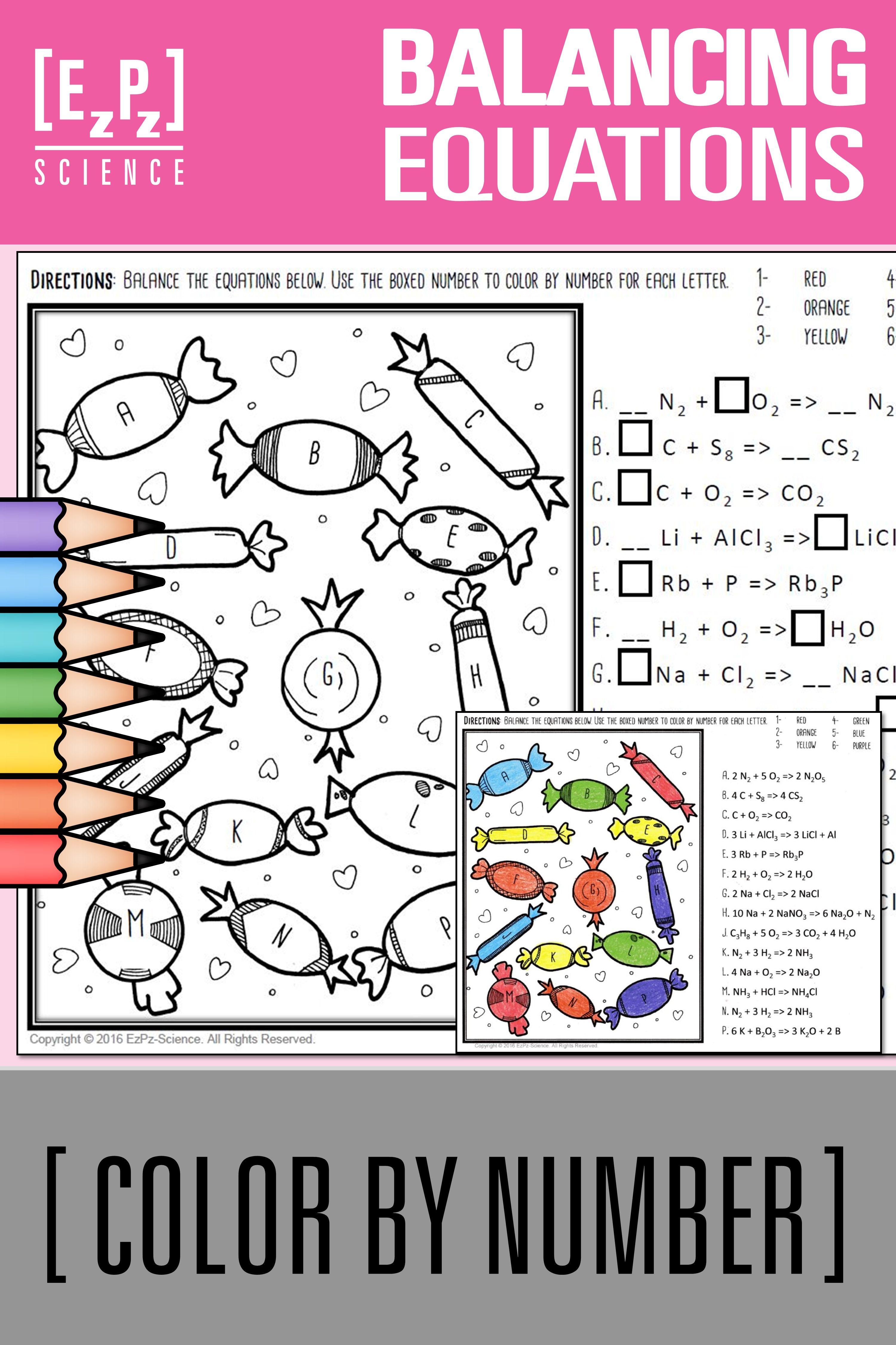 Balancing Equations Practice Worksheet Answers Nano3