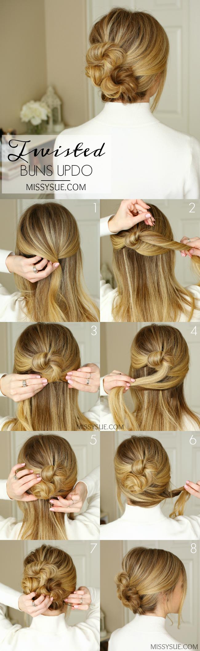 Search For Half Up 10 54 Missy Sue Hair Styles Twist Bun Hair Tutorial