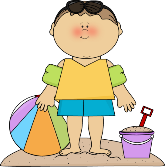 SUMMER LITTLE BOY ON THE BEACH CLIP ART (With images ...