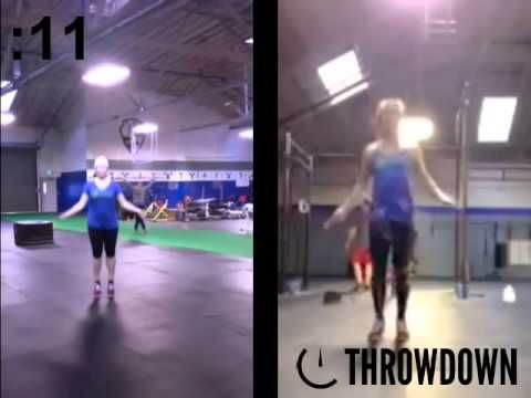 Ruth Pardue and Amanda Low of CrossFit San Leandro throw down to double unders.
