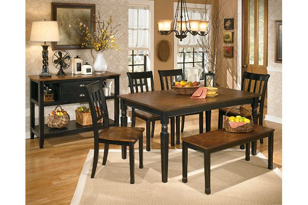 Owingsville Two Tone Casual Rectangular Dining Table Set With Best Two Toned Dining Room Sets 2018