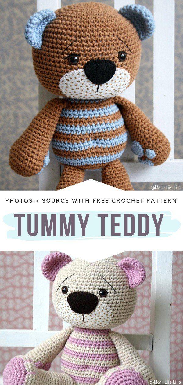 Heart-Melting Teddy Bears Crochet Patterns - Free Crochet Patterns #crochetteddybears