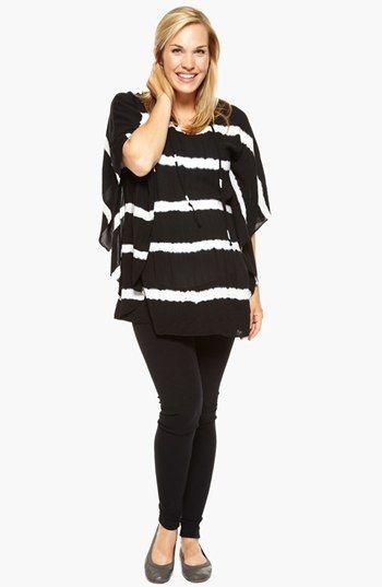 Nom Maternity Demi Stripe Challis Maternity Poncho available at #Nordstrom