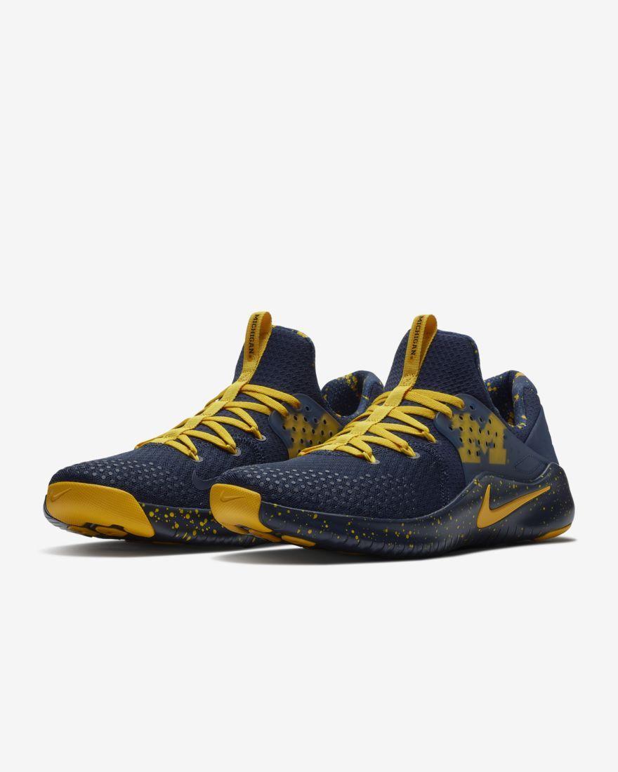 8680413bb6a9 Nike Free TR8 (Michigan) Gym Gameday Shoe