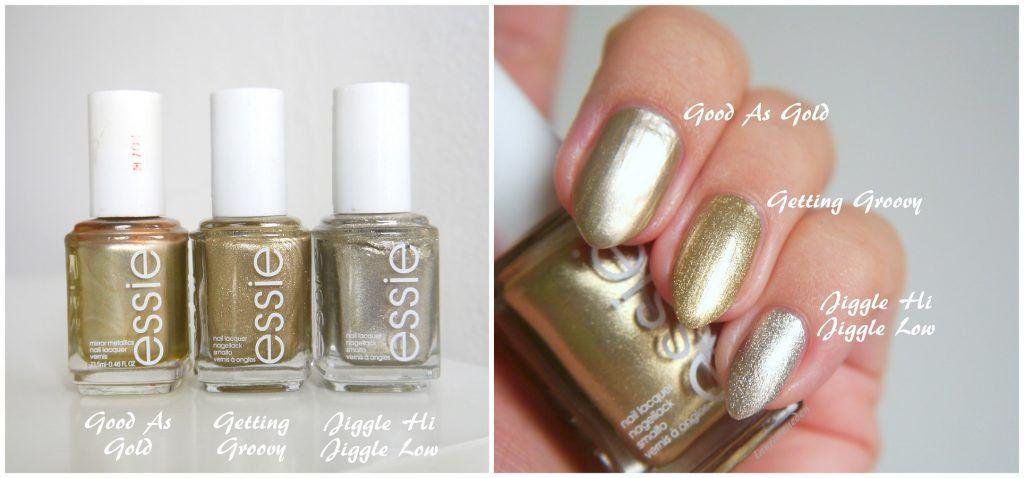 Essie Good As Gold, Getting Groovy, Jiggle Hi Jiggle Low | Nails ...