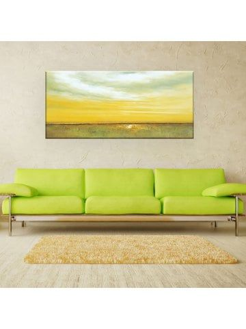 YHHP Hand Painted Wall Art Abstract Steppe Canvas Oil Painting for ...