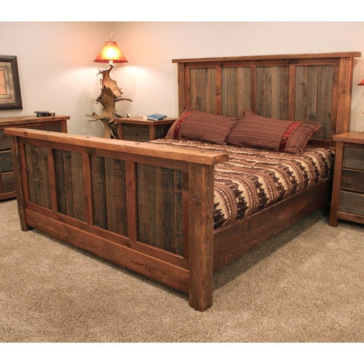 Wyoming Reclaimed Barnwood Bed Reclaimed Barn Wood Bed Barnwood Bed Wood Bed Frame Barnwood Furniture