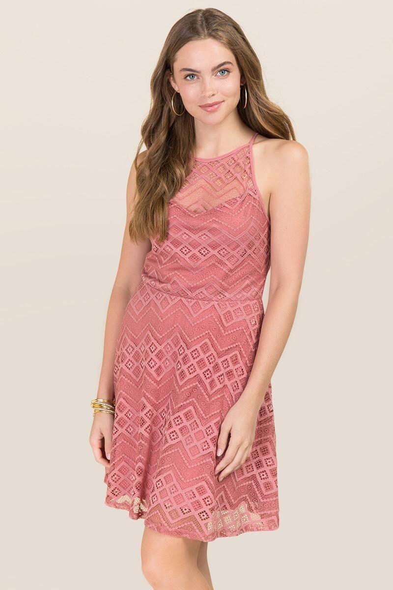 Lark High Neck Lace A-Line Dress | francesca\'s | Junior ring ...