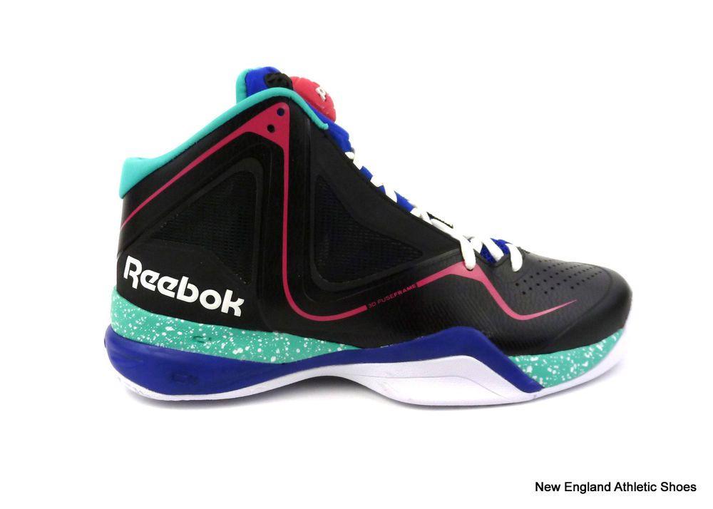 6ddd1d9804685b Reebok men Pumpspective Omni pump basketball shoes - Black   Blue   Emerald   Reebok