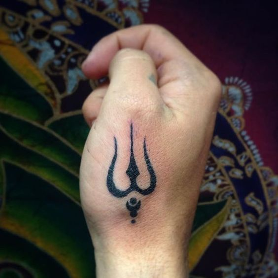 Tattoos And Simple Symbols Trishul Tattoo Designs Hand Tattoos Om Tattoo Design