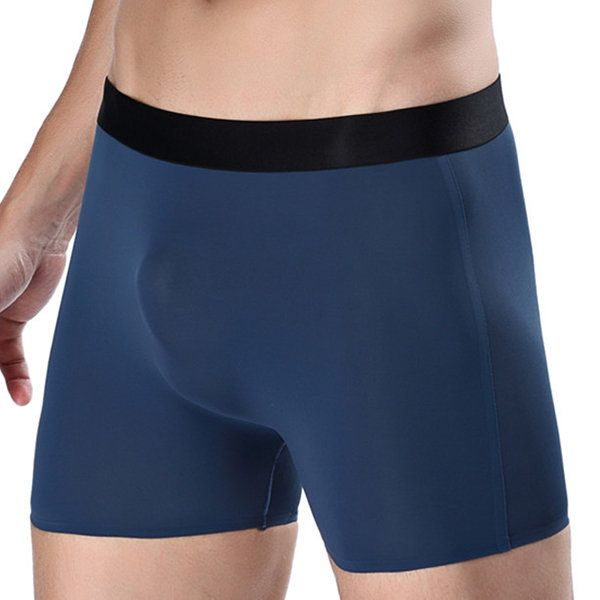 Blue Boxer Brief Lacoste Underwear Men/'s Tencel Stretch Breathable Long Trunk