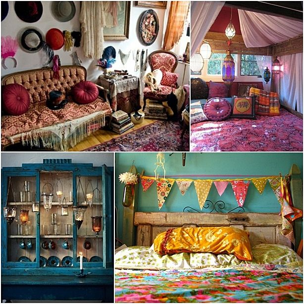 Bohemian Decorating Ideas Shabby Chic Home Decoration 22