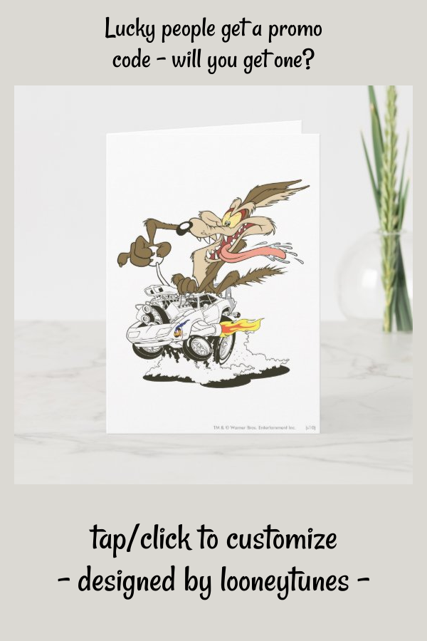 Wile E. Coyote Crazy Glance Card #animation #Card