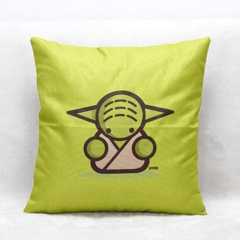 Green Yoda Decorative Pillow, perfect