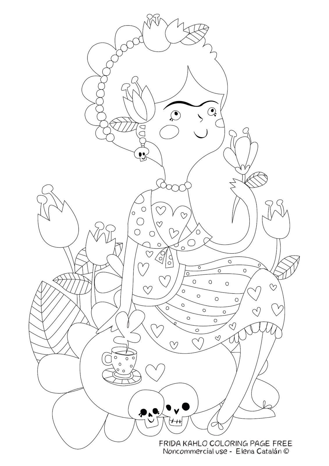 Dibujo Frida Kahlo Para Bordar