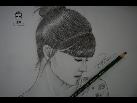تعلم رسم وجه فتاة بشكل جانبي مع الخطوات للمبتدئين بورتريه Youtube Art Drawings Simple Girl Drawing Sketches Art