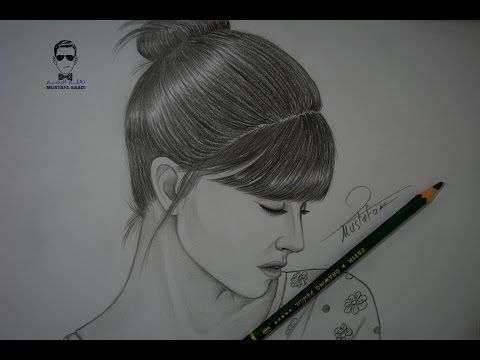 تعلم رسم الوجه بالرصاص للمبتدئين مع خطوات بسيطة Youtube Girl Drawing Sketches Art Drawings Simple Male Sketch
